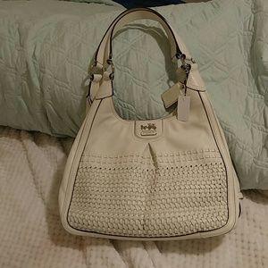 Coach parchment(ivory)purse.